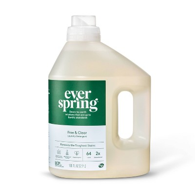 Free & Clear Liquid Laundry Detergent - 100 fl oz - Everspring™