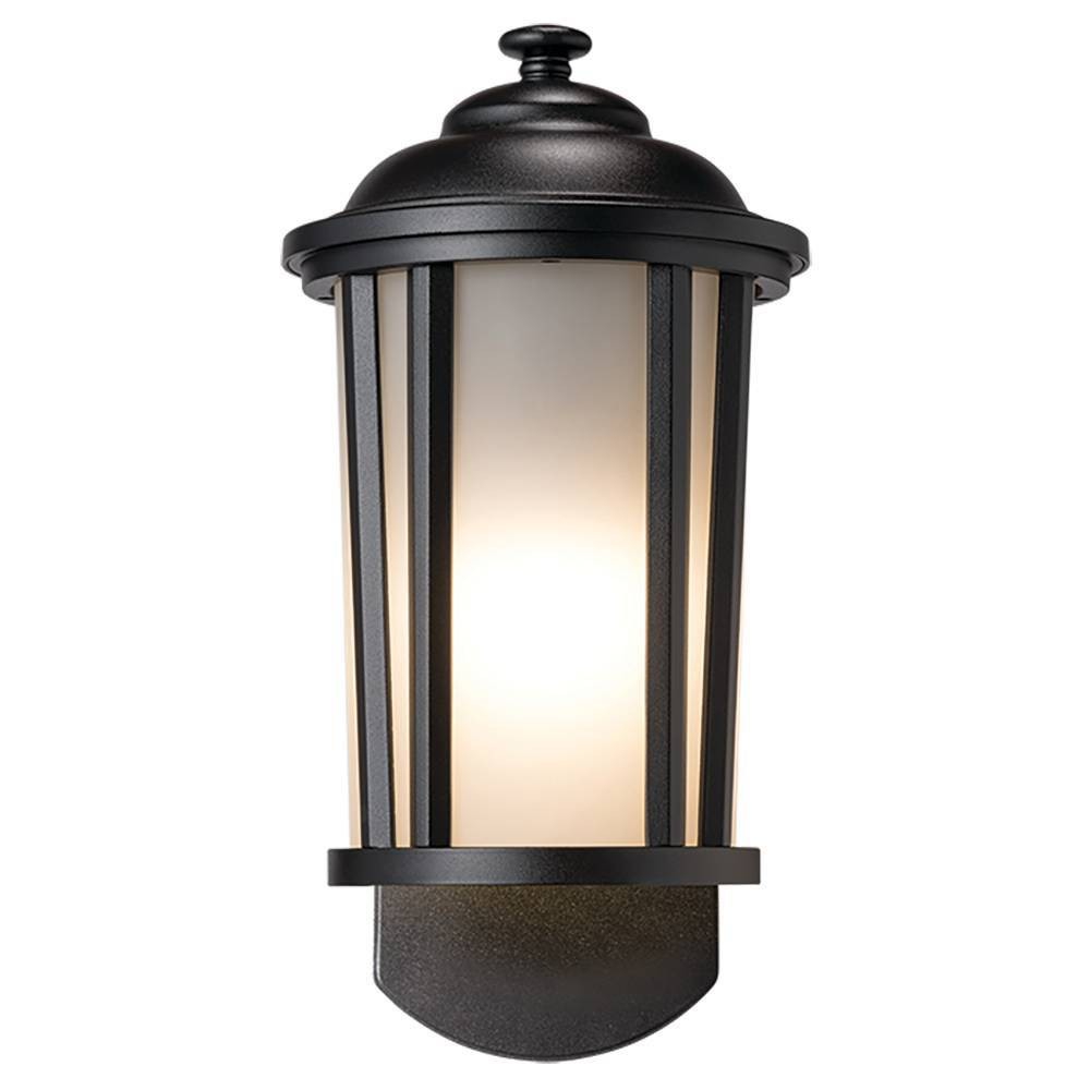 Image of Traditional Companion Smart Security Outdoor Wall Light Black - Maximus
