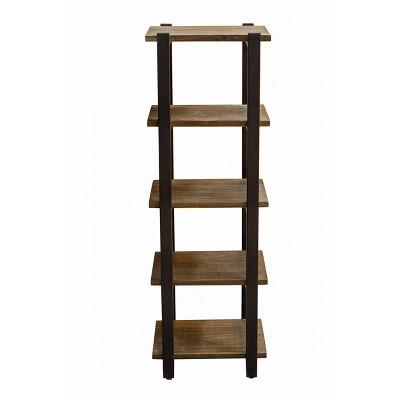 Pomona 4-Shelf Bath Storage Brown - Alaterre Furniture