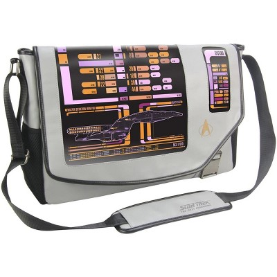 "Crowded Coop, LLC Star Trek: The Next Generation LCARS 15"" Messenger Bag"