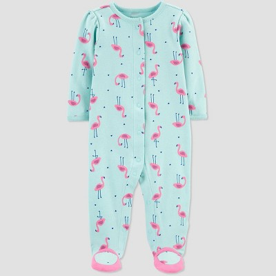 Baby Girls' Flamingo One Piece Pajama - Just One You® made by carter's Blue 9M