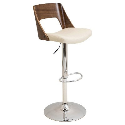 Valencia Mid-Century Modern Adjustable Barstool - LumiSource