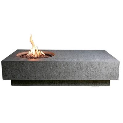 "Metropolis 56"" Outdoor Fire Pit Propane Table Backyard Patio Heater - Elementi"