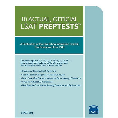 10 Actual, Official LSAT Preptests - (Paperback)