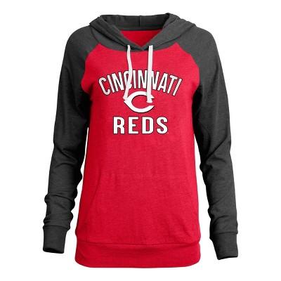 MLB Cincinnati Reds Women's Bi-blend Lightweight Hoodie