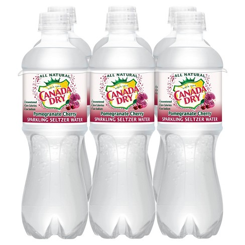 Canada Dry Pomegranate Cherry Sparkling Seltzer Water - 6pk/0.5 L Bottles - image 1 of 1