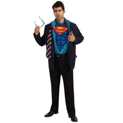 "Rubies Superman Reversible Clark Kent Adult Costume XL (50"")"