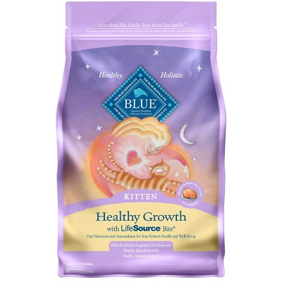 Blue Buffalo Healthy Growth Chicken & Brown Rice Recipe Kitten Premium Dry Cat Food - 7lbs