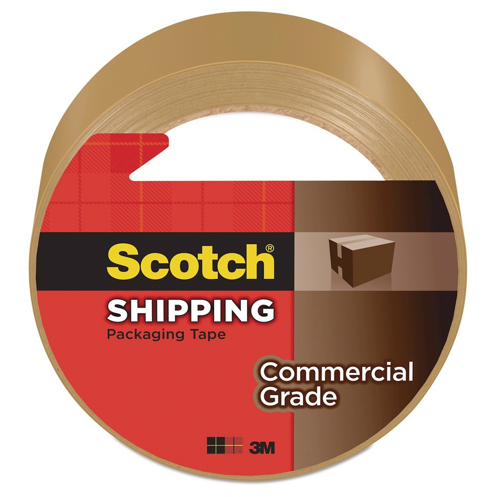 Scotch 3750 Commercial Grade Packaging Tape, 3, Tan