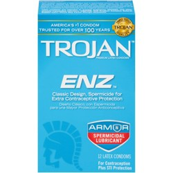 Trojan ENZ Lubricated Premium Latex Condoms - 12ct