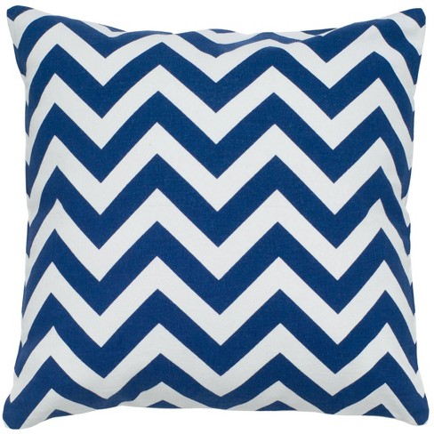 """18""""x18"""" Poly Filled Chevron Square Throw Pillow - Rizzy Home - image 1 of 3"""