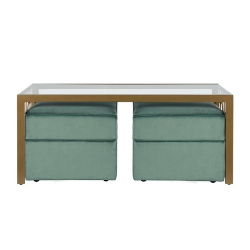 Juliette Coffee Table and Two Ottomans Set - CosmoLiving by Cosmopolitan - image 1 of 6