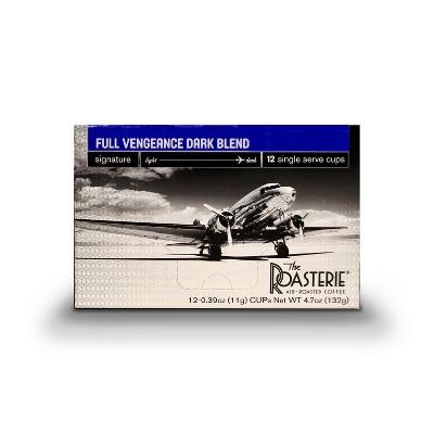 The Roasterie Full Vengeance Dark Roast Coffee - Single Serve Cups - 12ct