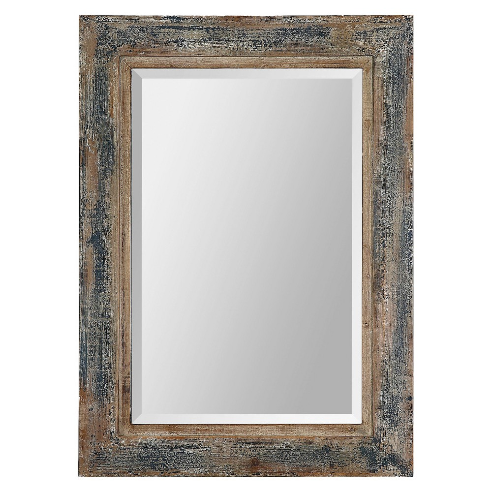"""Image of """"30""""""""x20"""""""" Rectangle Bozeman Decorative Wall Mirror Distressed Blue - Uttermost"""""""