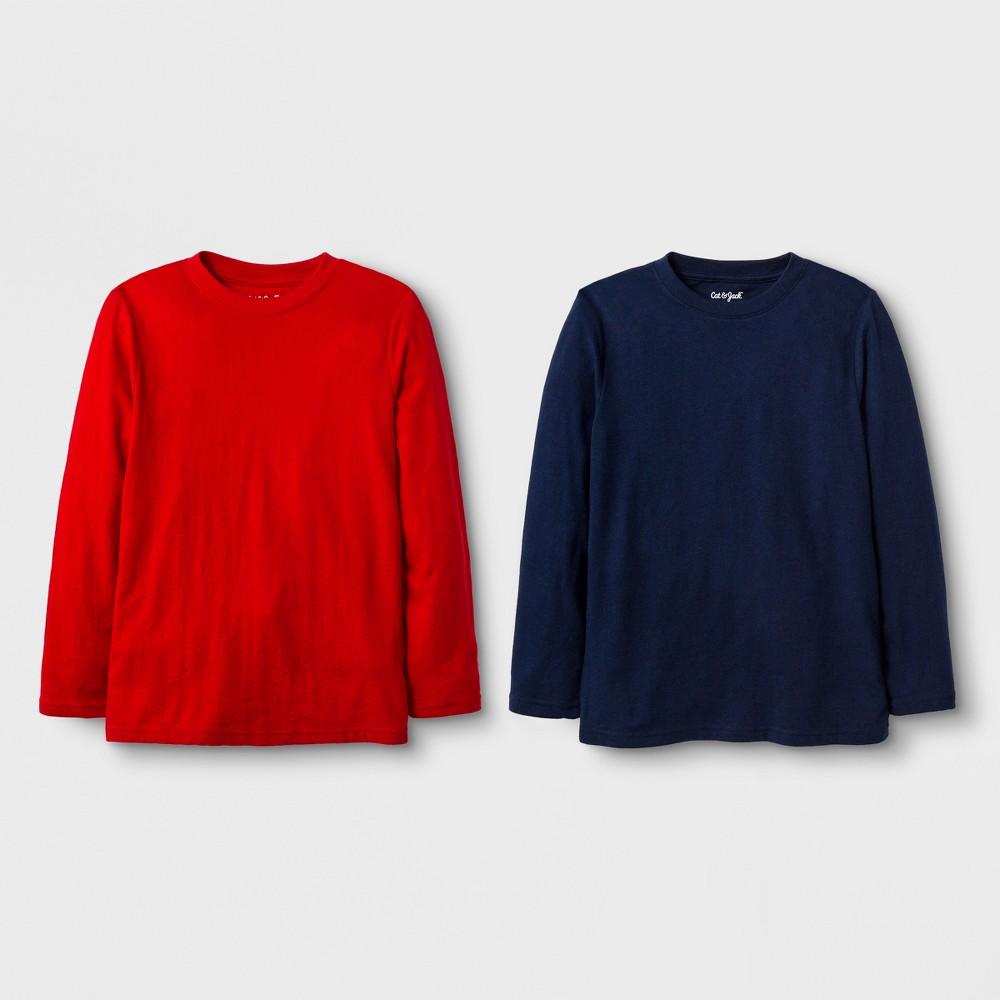 Boys 2pk Long Sleeve T Shirt Cat Jack 8482 Red Navy Xl