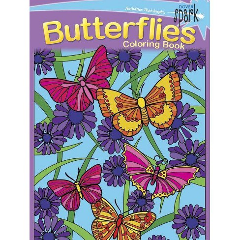 Spark Butterflies Coloring Book - by  Jessica Mazurkiewicz (Paperback) - image 1 of 1