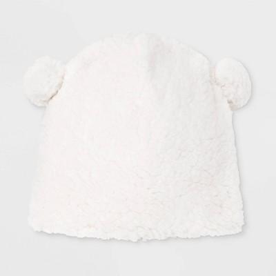 Girls' Teddy Fleece Beanie - Cat & Jack™ White