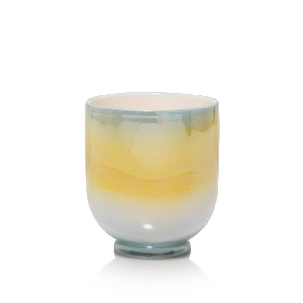 Image of 10oz Ceramic Jar Candle Horizon Glow - Nature's Wick, Multi-Colored