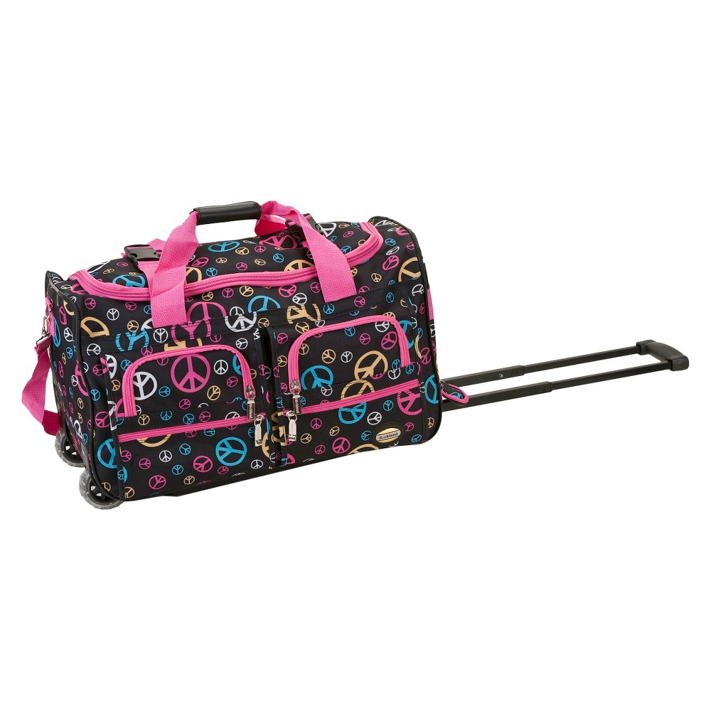 Rockland 22 Rolling Duffel Bag - Peace