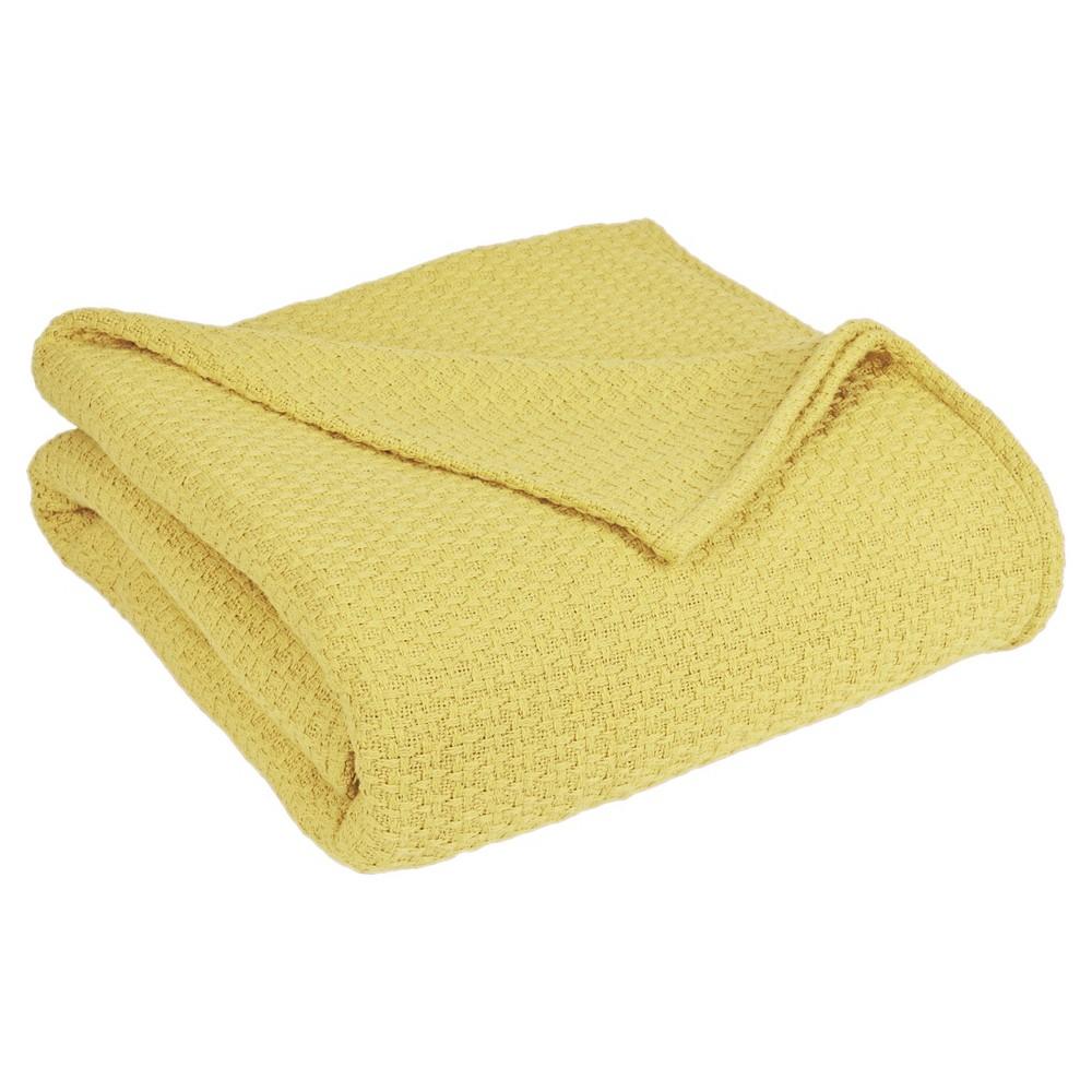 Image of Grand Hotel Cotton Solid Blanket (Full/Queen) Lemon - Elite Home