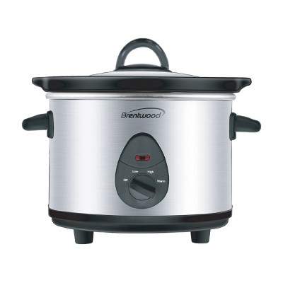 Brentwood 1.5 Quart Slow Cooker in Stainless Steel with 3 Settings