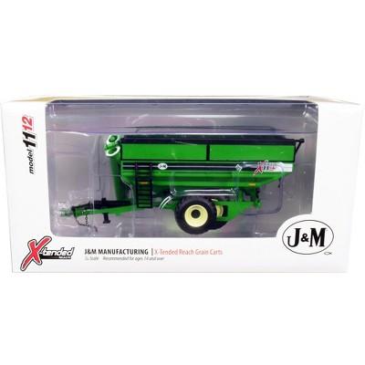 J&M 1112 X-Tended Reach Grain Cart Dual Wheels Green 1/64 Diecast Model by SpecCast