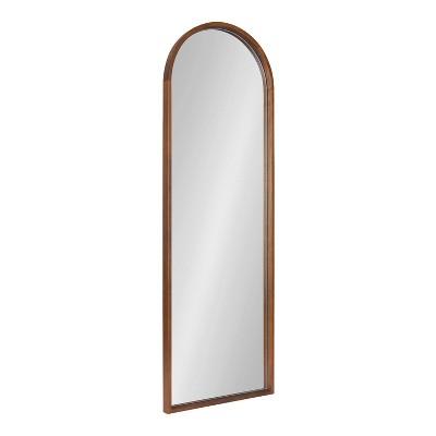"16"" x 47"" Valenti Full Length Wall Mirror Walnut Brown - Kate & Laurel All Things Decor"