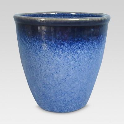 8  Reactive Glaze Stoneware Planter - Blue - Threshold™