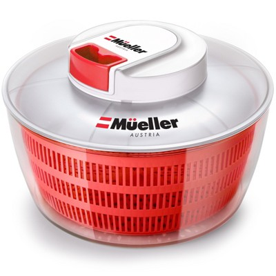 Mueller Salad Spinner with QuickChop Pull Chopper - Red