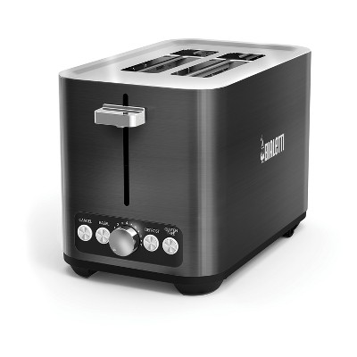 Bialetti 2-Slice Stainless Steel Toaster Black