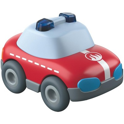 HABA Kullerbu Red Fire Truck Car with Momentum Motor