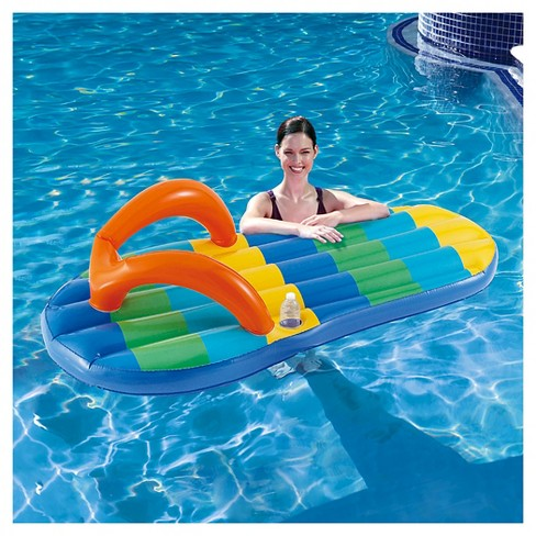f53f71bc58d Beach Striped Flip Flop 71-in Inflatable Pool Float   Target