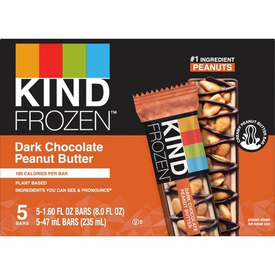 KIND Frozen Dark Chocolate Peanut Butter Bars - 5ct