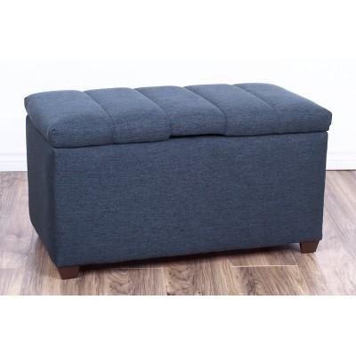 Kids Storage Ottoman Gray - The Crew Furniture