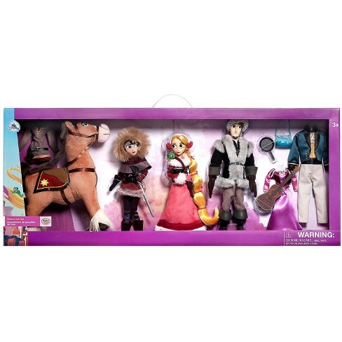 Disney Tangled The Series Classic Rapunzel, Flynn, Cassandra and Maximus Exclusive Deluxe Doll 4-Pack Gift Set - image 1 of 3
