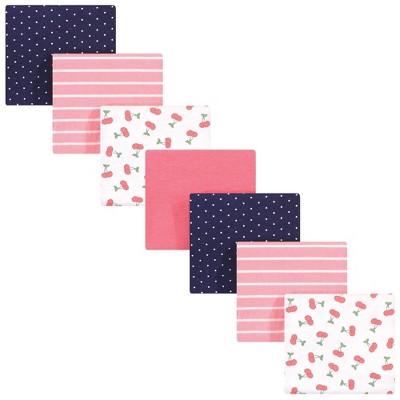 Hudson Baby Unisex Baby Cotton Flannel Receiving Blankets Bundle - Cherry One Size