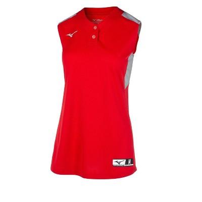 Mizuno Youth Girl's Aerolite 2-Button Sleeveless Softball Jersey