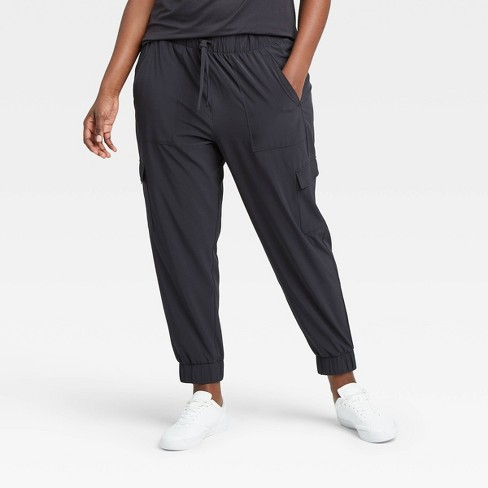 Women's Stretch Woven Cargo Joggers - All in Motion™ - image 1 of 4