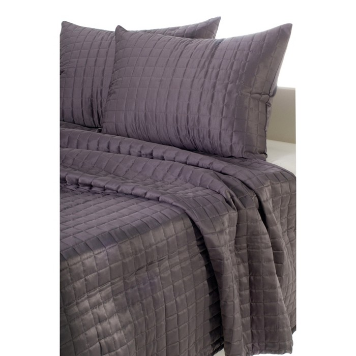 Geometrical Poly Satin Maddux Place Quilt Set - Rizzy Home® - image 1 of 6