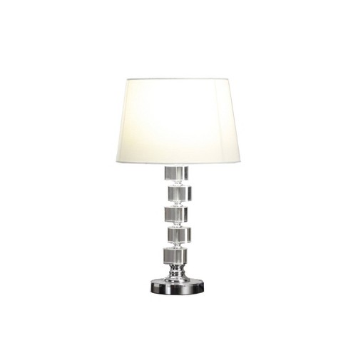 Adelaine Crystal Table Lamp White Lamp Only Ore International