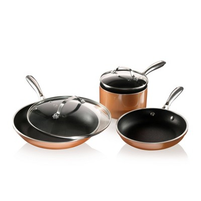 Gotham Steel Cast Textured Copper 5pc Cookware Set