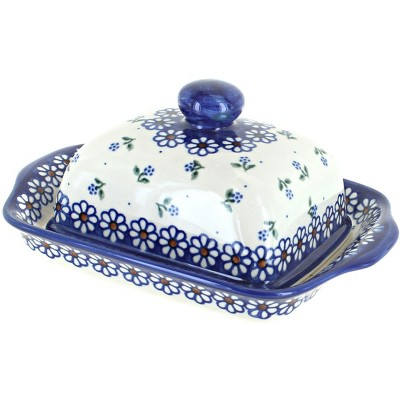 Blue Rose Polish Pottery Jubilee Butter Dish