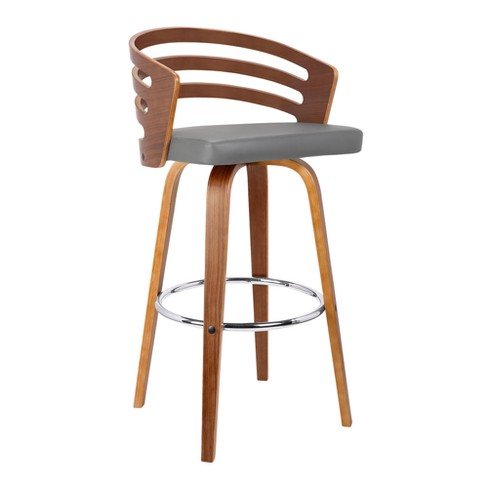 Superb 30 Jayden Mid Century Swivel Bar Height Barstool Brown Gray Armen Living Machost Co Dining Chair Design Ideas Machostcouk