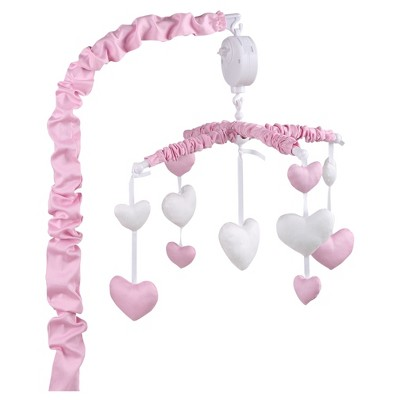The Peanutshell Musical Mobile - Hearts Pink