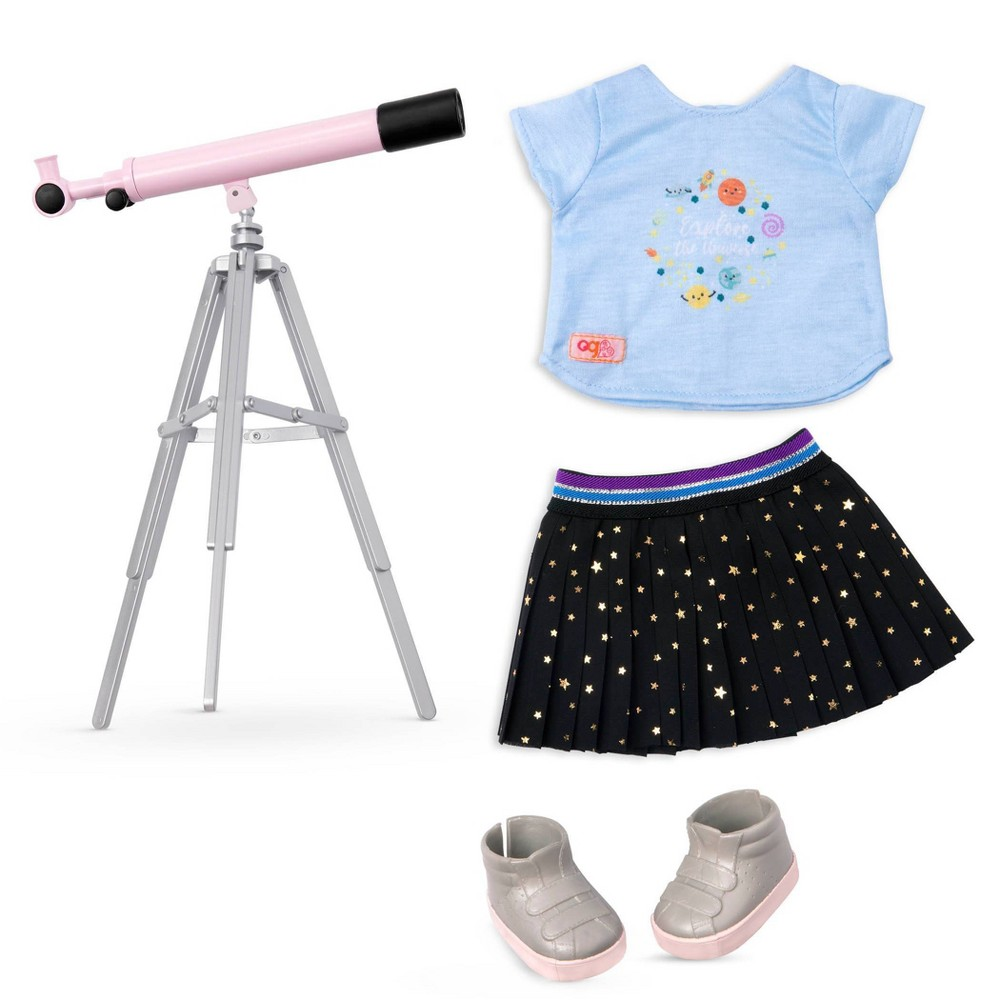 Our Generation Science Outfit With Pink Telescope For 18 34 Dolls Hidden In The Stars