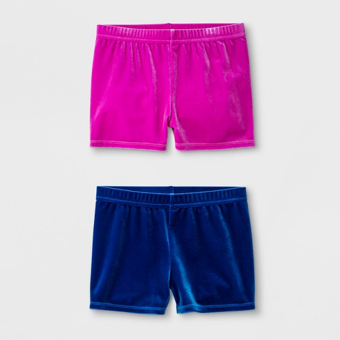 Girls  Dance Activewear Shorts - Magenta Blue   Target 05fdbca3543f