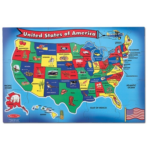 Melissa And Doug Usa Map Floor Puzzle 51pc : Target