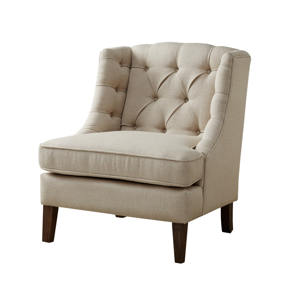 Chester Button Tufted Accent Chair - Cream (Ivory)
