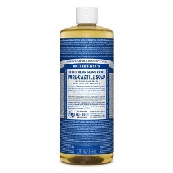 Dr. Bronner's 18-In-1 Hemp Pure-Castile Soap - Peppermint - 32 fl oz