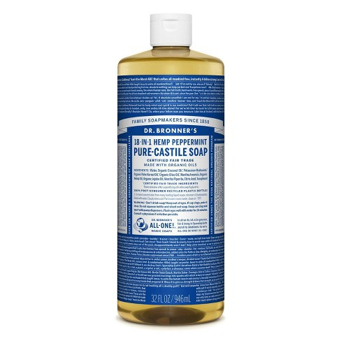Dr. Bronner's 18-In-1 Hemp Pure-Castile Soap - Peppermint - 32 fl oz - image 1 of 3